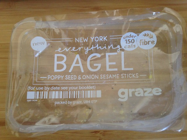 Empty Graze box: New York Everything Bagel