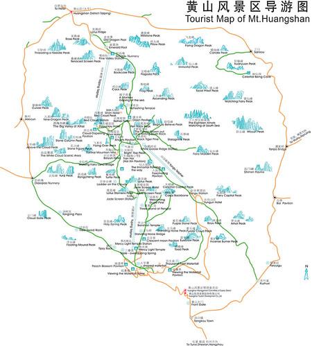 huangshan english map