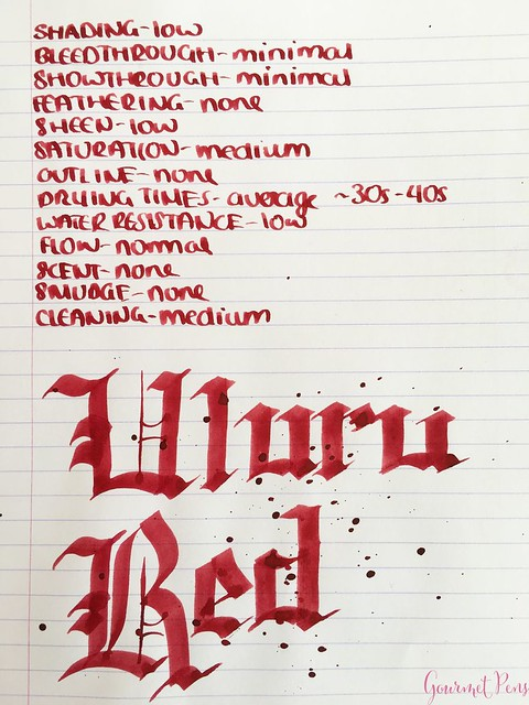 Ink Shot Review Blackstone Uluru Red @AndersonPens 6
