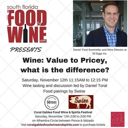 South Florida Food and Wine Wine Seminar