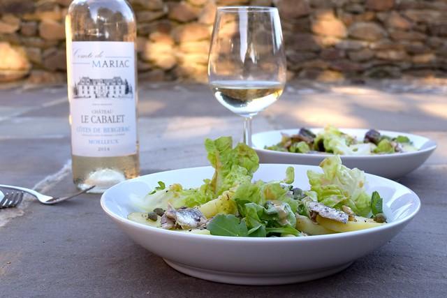 Anchovy, Caper & Potato Salads with French Vinaigrette   www.rachelphipps.com @rachelphipps