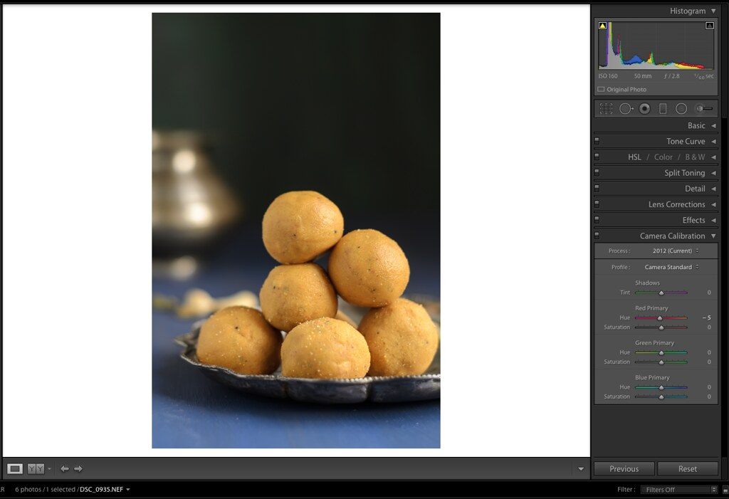 Camera Calibration, Lightroom Tutorial for Food photos, Lightroom tutorial, Editing RAW files in Lightroom,