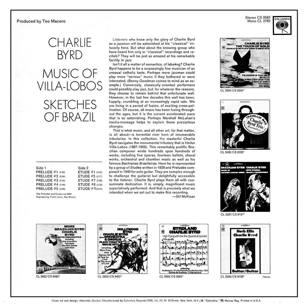 Charlie Byrd / Villa-Lobos ‎– Sketches Of Brazil