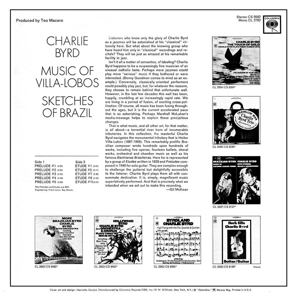 Charlie Byrd / Villa-Lobos – Sketches Of Brazil