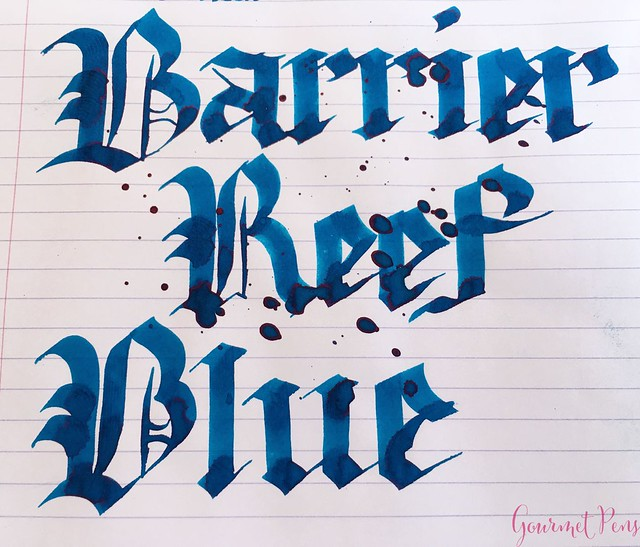 Ink Shot Review Blackstone Barrier Reef Blue @AndersonPens 6