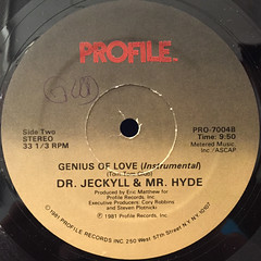 DR. JECKYLL & MR. HYDE :GENIUS RAP(LABEL SIDE-B)