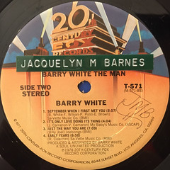 BARRY WHITE:BARRY WHITE THE MAN(LABEL SIDE-B)