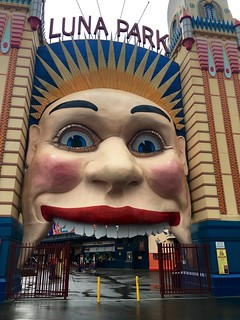 Luna Park's entrance is the creepiest clown ever