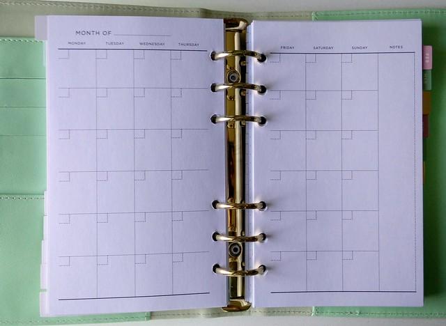 Maandoverzicht planner