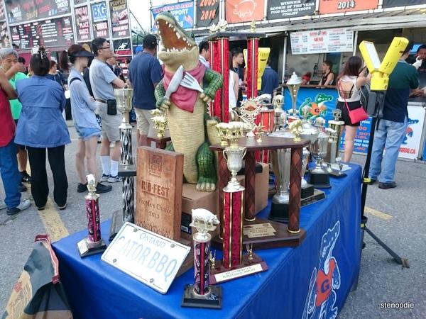 Gator BBQ trophies