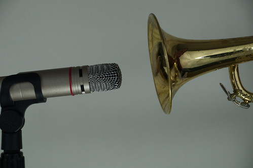 Trumpet Bell and Mircophone