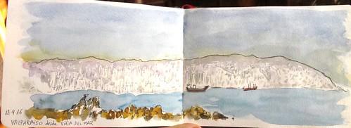 Valparaiso vista desde Viña del Mar