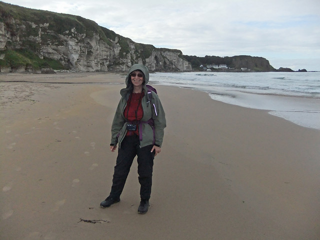 Me on the beach in White Park Bay in Northern Ireland, UK