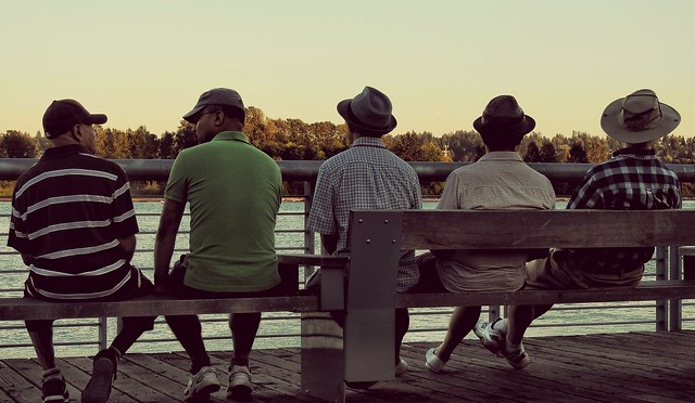 Old Guys on a Bench