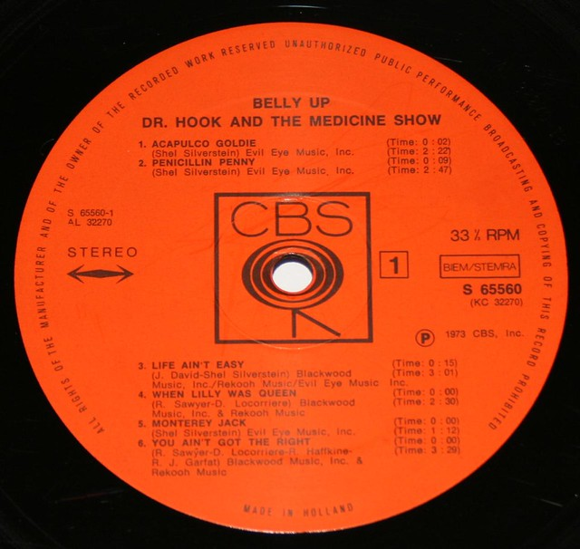 Dr Hook and the Medicine Show Belly Up Tex-Mex Rock FOC