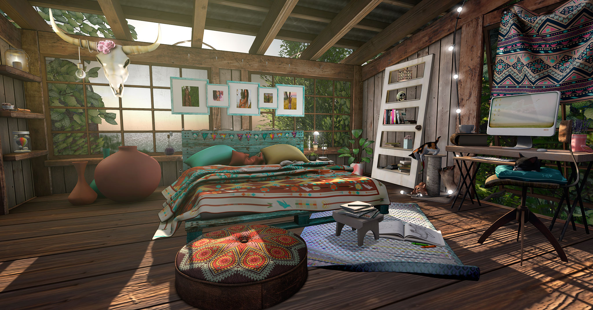The place of my dreams is boho styled