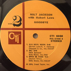 MILT JACKSON:GOODBYE(LABEL SIDE-B)