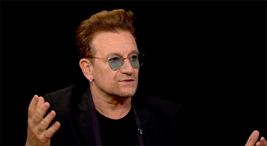 Bono on the Charlie Rose show