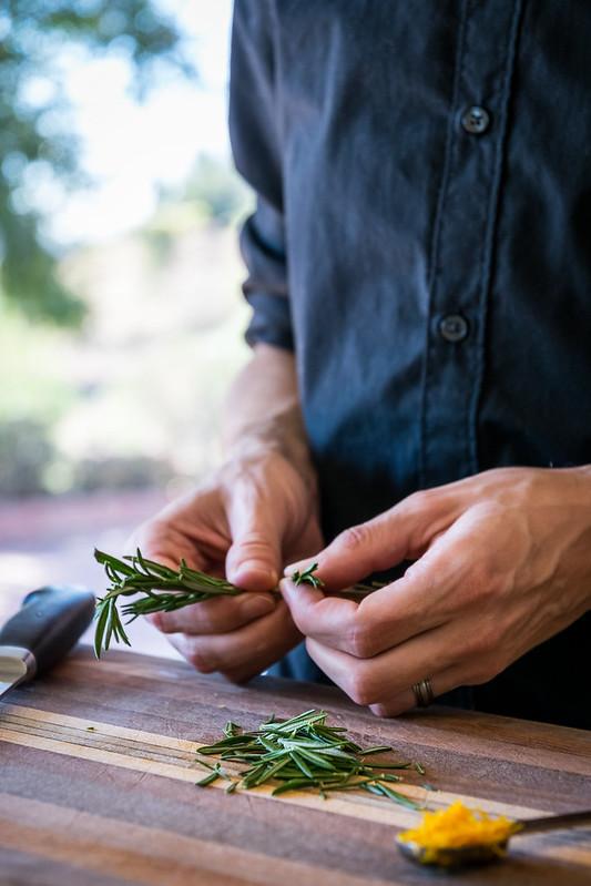 fresh aromatic rosemary