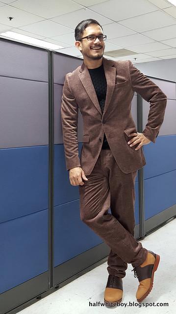 halfwhiteboy velvet suit and waffle sweater 06
