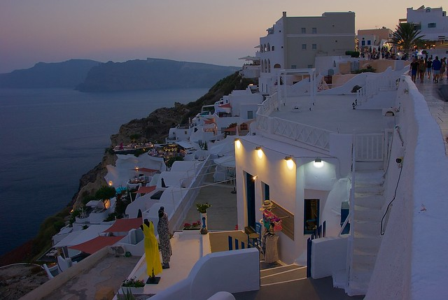 Lovely evening in Oia