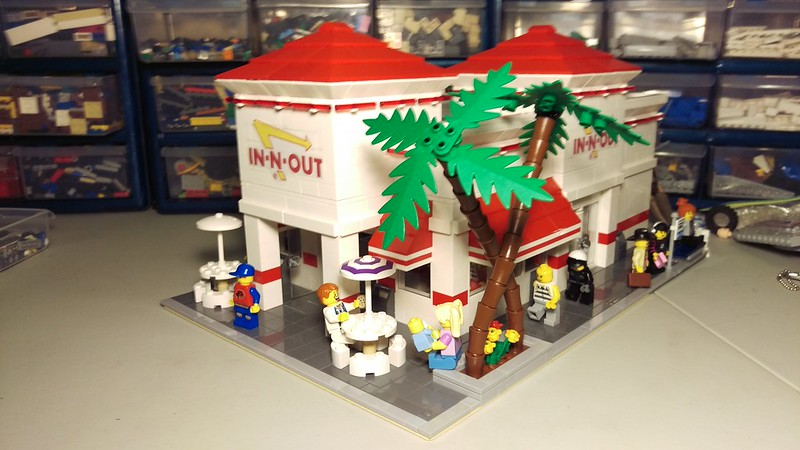 MOC] In-N-Out Burger Modular Building (with .LXF file) - LEGO Town ...