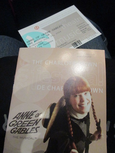 Anne of Green Gables program and ticket
