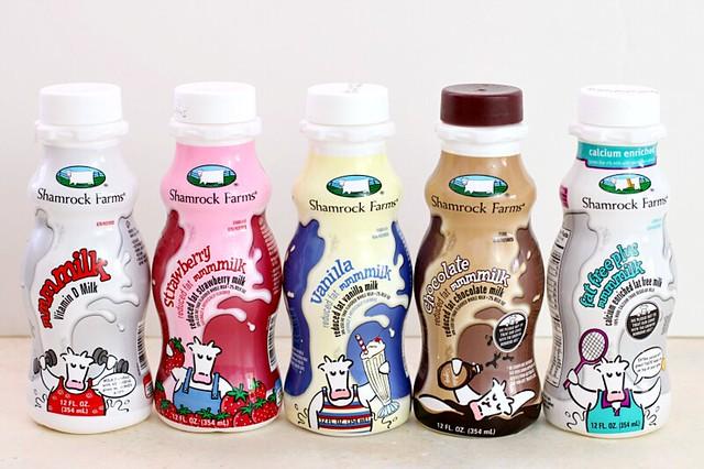 Shamrock Farms milk products.