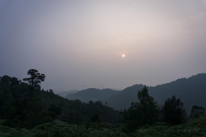 Panorama Hill, Sungai Lembing - sun