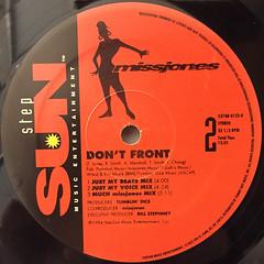 MISS JONES:DON'T FRONT(LABEL SIDE-B)