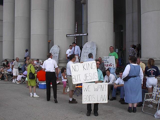 Ten Commandments Rally in Montgomery 2003