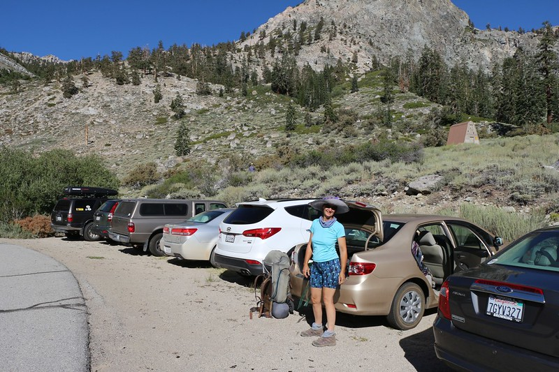 Back at the car in Onion Valley