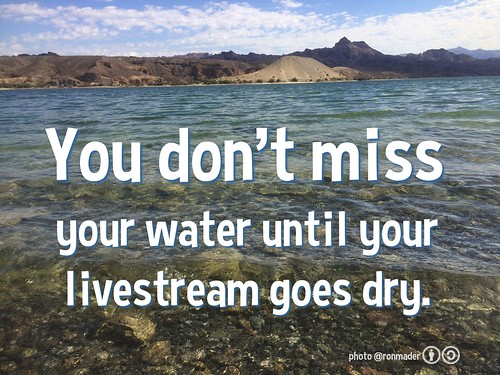 You don't miss your water until your livestream goes dry #socialweb
