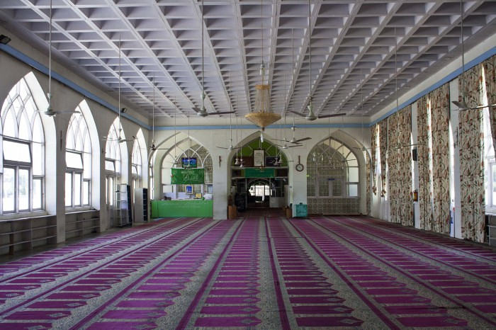 Hazrat Bal Mosque in Srinagar, Jammu and Kashmir, India