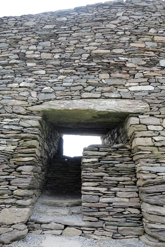 Entrance to Cahergal Stone Fort, West of Ireland.
