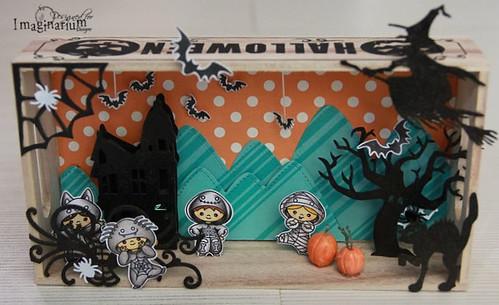 """""""Halloween"""" Miniature Scene"""