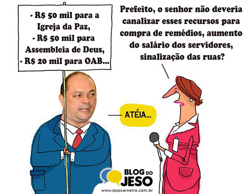 A voz do pastor, Charge Blog do Jeso