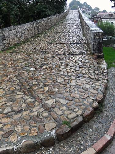 The Roman bridge in Canga de Onis, gateway to the Picos de Europa of Northern Spain