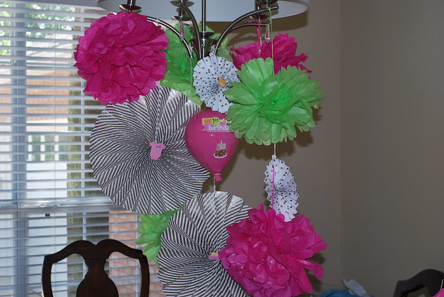 pom poms and pinwheels