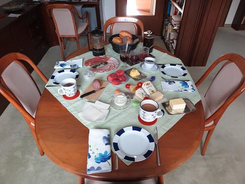 Urlaubsfrühstück am Freitagmorgen