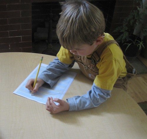 a letter writing practice