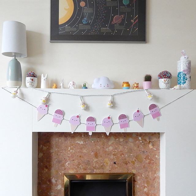 Free Summer Ice Cream Treats Printable Garland