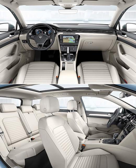 Салон универсала Volkswagen Passat Variant B8. 2014 год
