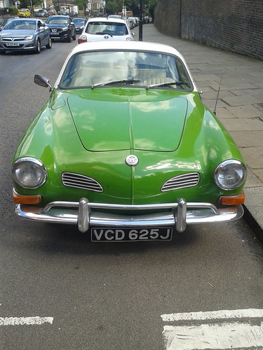 Green Karmann Ghia on Highgate High Street