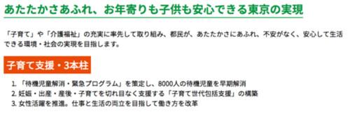 「あたたかさあふれ、お年寄りも子供も安心できる東京の実現」 (増田寛也)