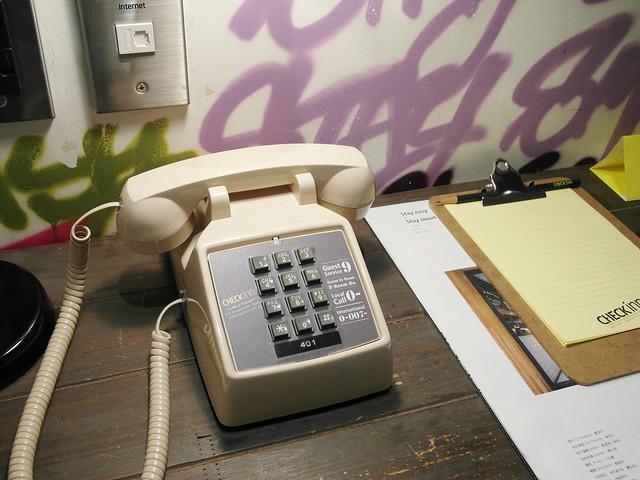 復古電話@雀客旅館CHECK INN