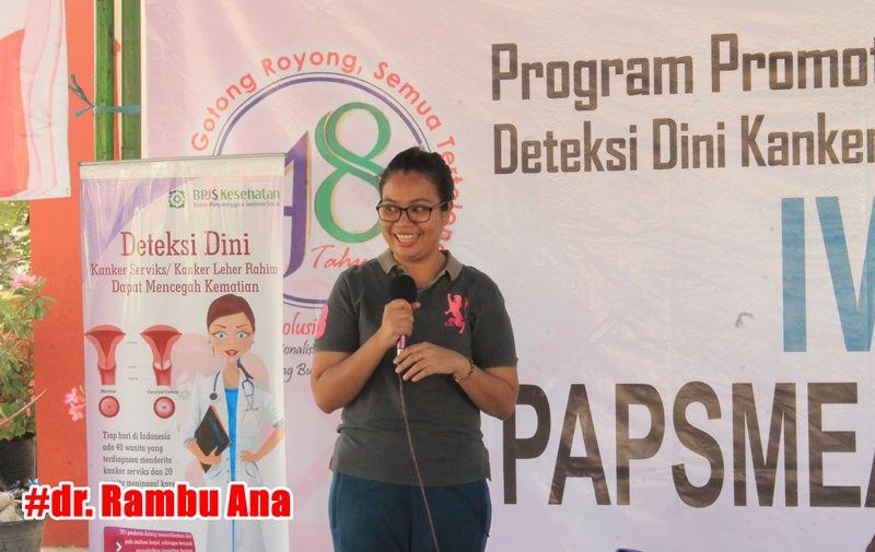dr. Rambu Ana - Penyuluhan - Pemeriksaan IVA - Puskesmas Waingapu