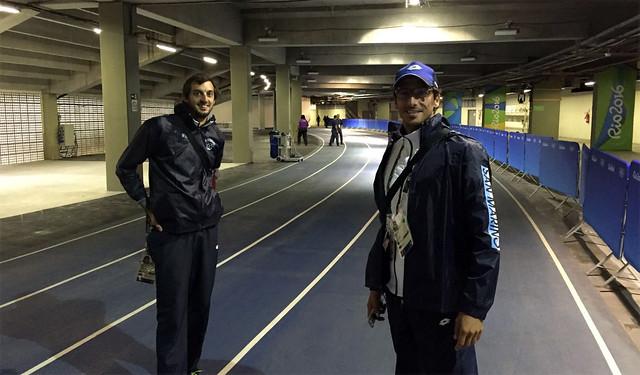 RIO 2016 - L'allenamento di Eugenio Rossi