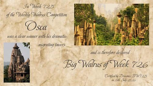 WW725 Winner Certificate - Osca