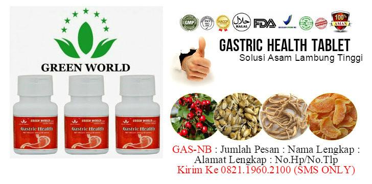 Harga Asli Gastric Health Tablet Green World